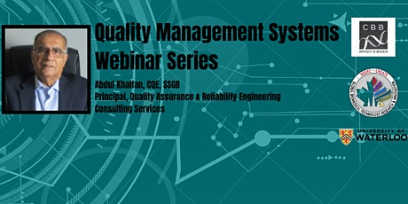 CBB presents: Quality Management Systems Webinar Series - November Session tickets