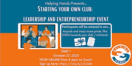 Starting Your Own Club: Leadership and Entrepreneurship Event tickets
