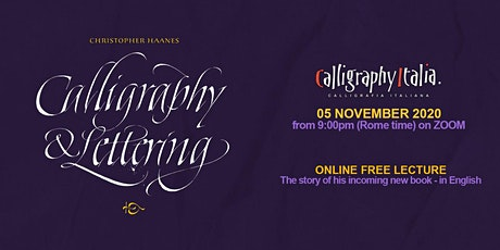 "Free Lecture – ""Calligraphy & Lettering - The book"" with Christopher Haanes tickets"