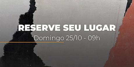 Culto de Domingo | 25/10 - 09h ingressos