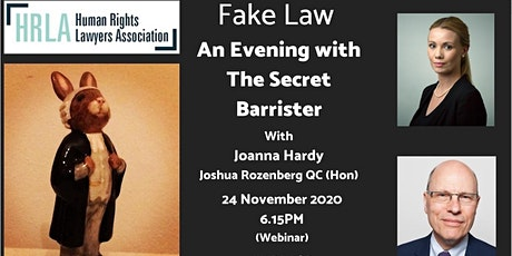 Fake Law: an Evening with the Secret Barrister tickets