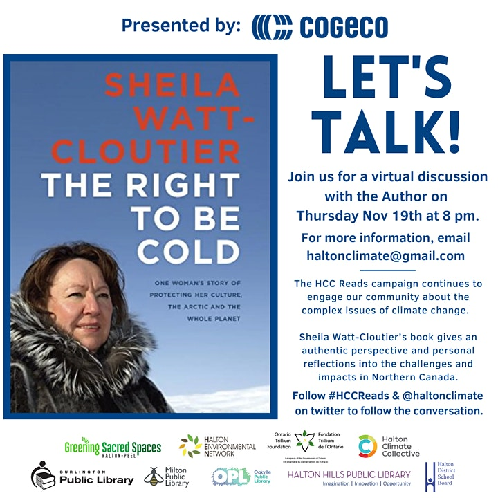 #HCCReads Let's Talk: Virtual Discussion with Sheila Watt Cloutier image