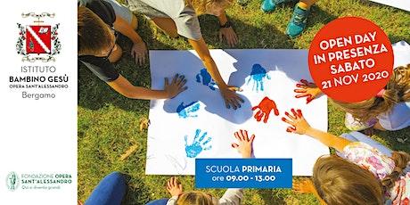 PRIMARIA DELLA SCUOLA DEL BAMBINO GESU'/ OPEN DAY IN PRESENZA biglietti