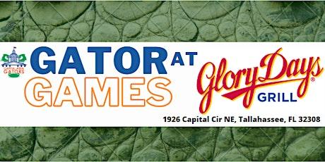 Tentative Gator Games at Glory Days- UF vs. LSU tickets