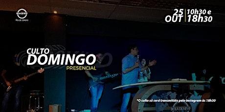 CULTO DE DOMINGO - 25/10/2020 ingressos