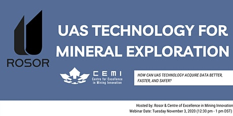 Rosor's Unmanned Aerial System (UAS) Technology for Mineral Exploration tickets