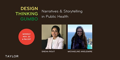 Design Thinking Gumbo: Narratives and Storytelling in Public Health tickets