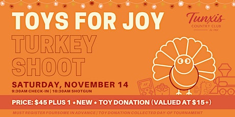 2020 TOYS FOR JOY Turkey Shoot Golf Tournament at Tunxis Country Club tickets