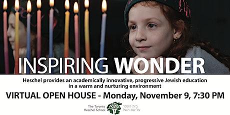 Toronto Heschel School Open House 2020 tickets