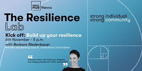 Resilience Lab: Kick off- Build up your Resilience Tickets