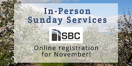 SBC Sunday Service | November 29 - 9:00am tickets