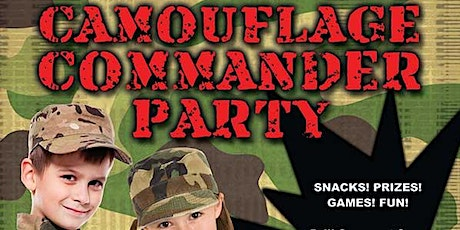Camouflage Commander Party Parent's Night Out tickets
