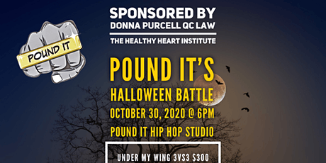 Pound It's Halloween Battle, Sponsored by Donna Purcell QC Law tickets