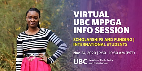UBC MPPGA Info Session: Scholarships, Funding, International Students tickets