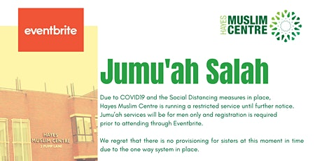 30 Oct - 1st Jummah - Check-in: 12noon - Salah: 12:45pm tickets