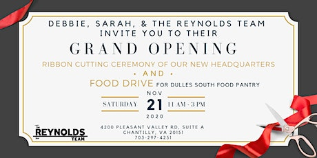 The Reynolds Team Grand Opening/Food Drive tickets