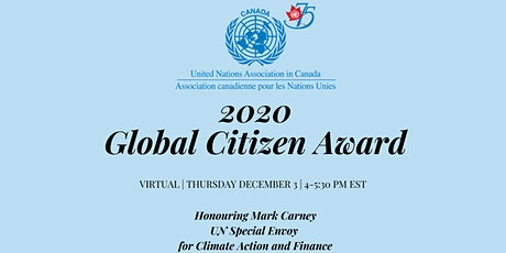 2020 Global Citizen Award Honouring Mark Carney tickets