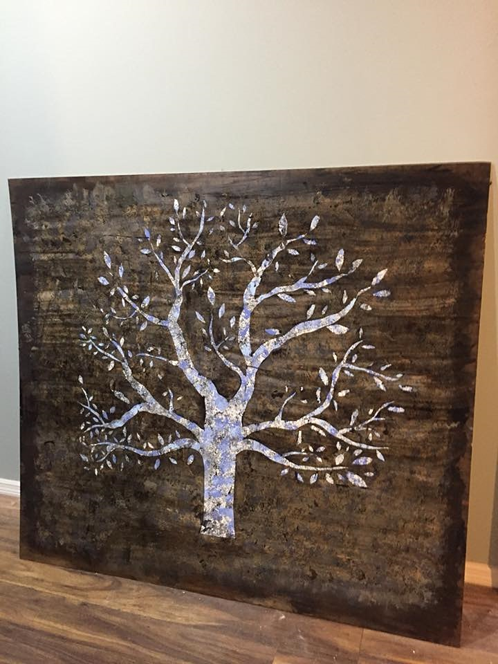 Snow Flakes and Lettering on Wood Board Painting, Adults Class image