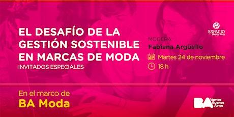 Charla EBA: El desafío de la Gestión Sostenible en marcas de Moda. entradas