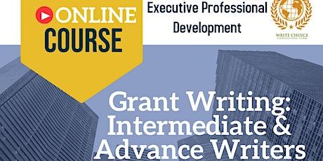 Grant Writing: Intermediate & Advance Writers tickets