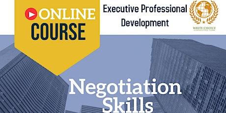 Negotiation Skills tickets