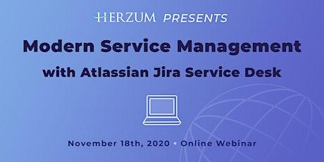 Modern Service Management with Atlassian Jira Service Desk tickets