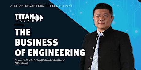 Titan Talks | The Business of Engineering | Presentation Event tickets