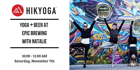 Yoga & Beer at Epic Brewing with Hikyoga Colorado tickets