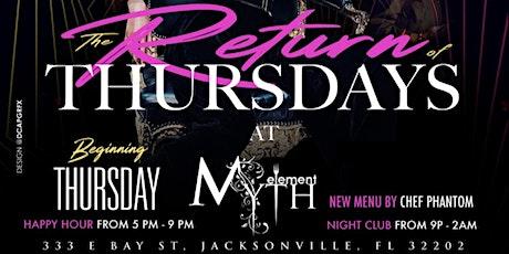 Crown Capital Thursdays at Myth + Element (Happy Hour) tickets