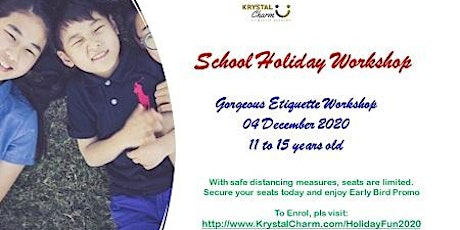Gorgeous Etiquette Workshop  - 04 Dec 2020 (11 to 15 years old) tickets