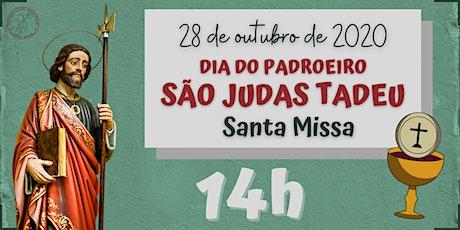 Dia do Padroeiro São Judas Tadeu | QUARTA, 28/10 - 14h ingressos