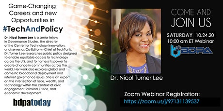 Webinar: Game-Changing Careers and Opportunities  in TECH and POLICY tickets
