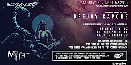 Scorpio Party at Myth Nightclub | Saturday 11.14.20 tickets