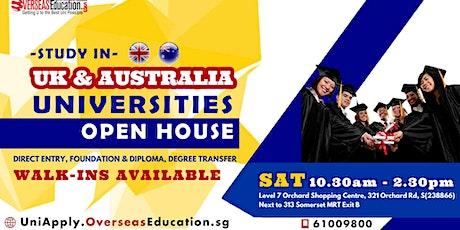 Study in UK & Australia Unis & Pathways OPEN HOUSE tickets