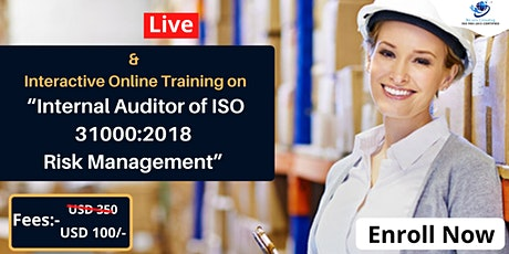 Certified Internal Auditor of ISO 31000:2018 Risk Management tickets