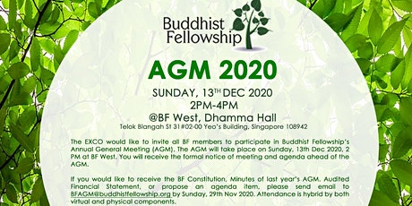 BF AGM 2020  @ BF West Centre or via Zoom (For BF Members Only)