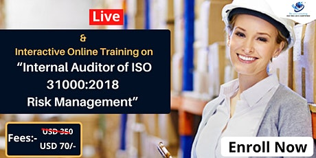 Certified Internal Auditor of ISO 31000:2018 and Risk Management tickets