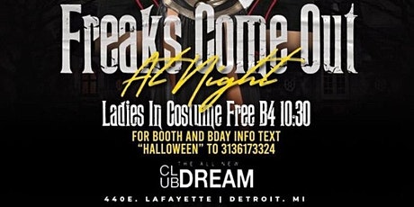 FREAKS COME OUT AT NIGHT 2020 - Halloween Party tickets