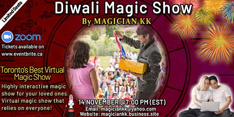 Toronto's Best Virtual Magic Show -Magical Diwali tickets
