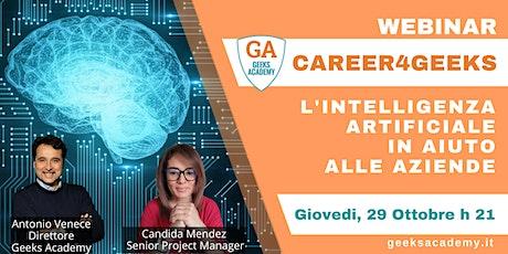 Career4Geeks - L'intelligenza artificiale in aiuto alle aziende biglietti