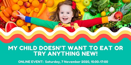 My child doesn't want to eat or try anything new! - 3pm session tickets