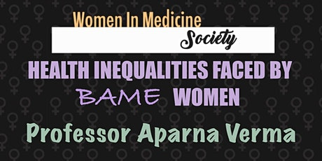 Healthcare inequalities faced by BAME women tickets