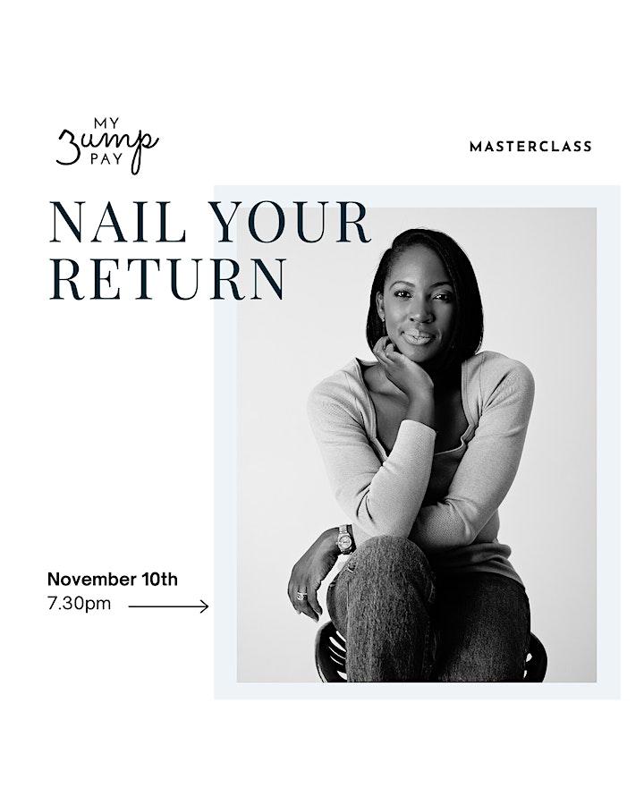 Nail your return to work - November Masterclass image