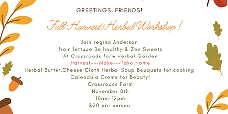 Fall Harvest Herbal Workshop tickets