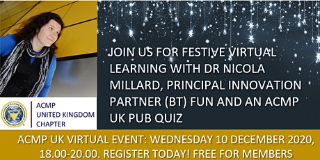 ACMP UK Chapter Christmas Social:  Learning and Networking tickets