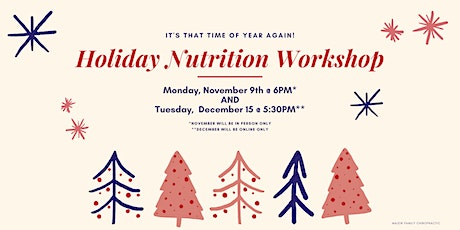 Holiday Nutrition Workshop tickets
