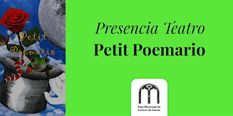 """""""Petit Poemario"""" Presencia Teatro Llanes"""