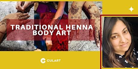 Traditional Henna Body Art tickets