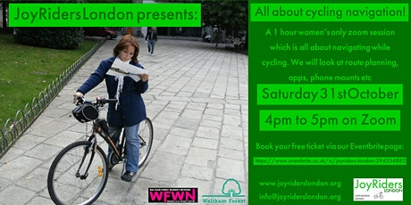 All about cycling navigation: A JoyRiders London Zoom event for women tickets