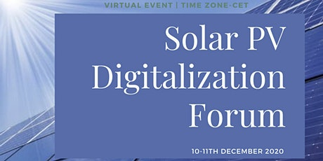 Solar PV Digitalization Forum tickets